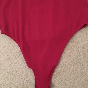 Wolford Tops - Wolford women's red bodysuit